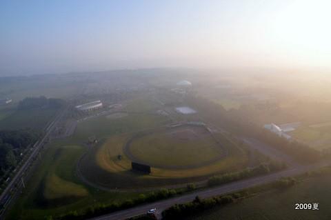 野球場の朝