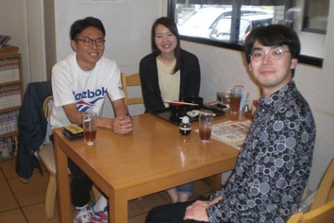 ランチのお客さま!東京からの大学生♪