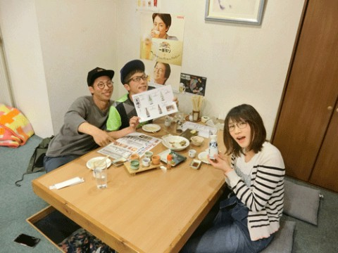 昨夜のお客さま!北海道の地酒飲みくらべ♪