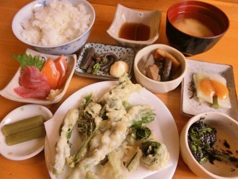 旬の山菜定食♪