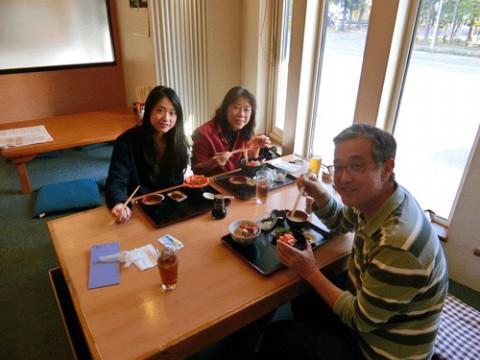 ランチのお客さま!かわいい娘さんと静岡から♪