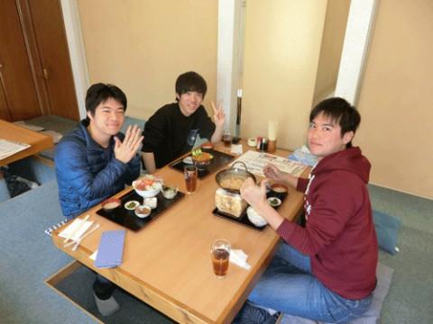 ランチのお客さま!北海道へ卒業旅行♪