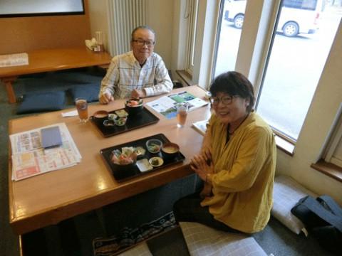 ランチのお客さま!福岡から移住して♪
