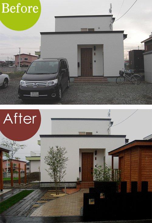 庭・Before & After /フロントヤード・6