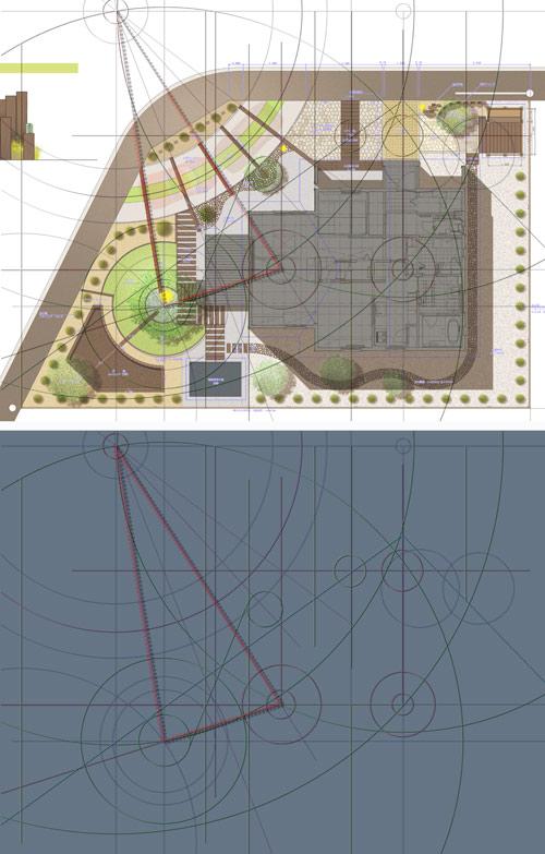 庭のデザイン・補助線