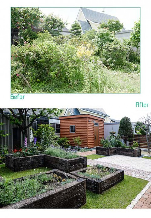 28年目のリ・ガーデンの庭