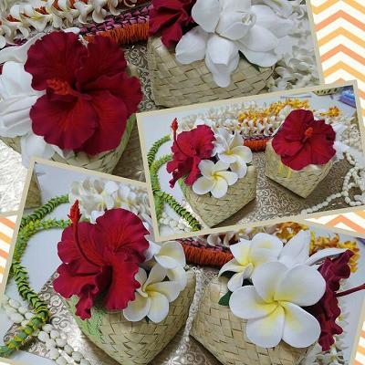 粘土で作る夏のお花