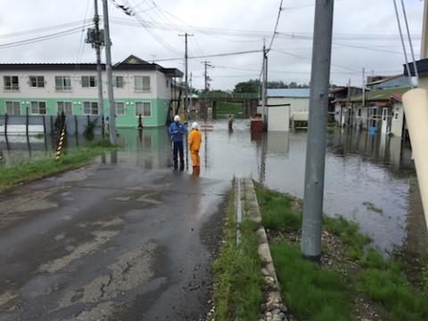 台風10号被害 床上浸水受ける