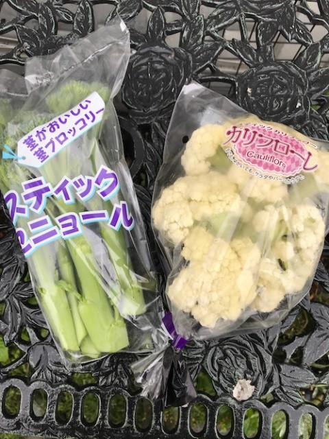 スティックブロッコリーとカリフローレ 見慣れない野菜ですが?