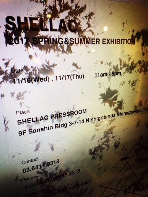 SHELLAC 2017 S/S