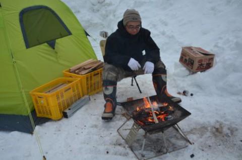 厳冬期のキャンプもあと僅か!