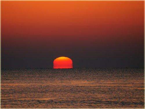 大津で感動の変形太陽