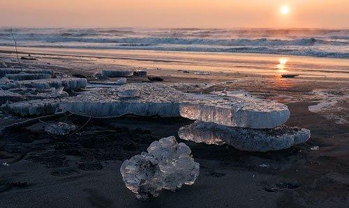 豊頃町大津海岸の流氷