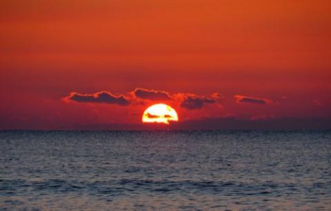 直別キナシベツ海岸の日の出
