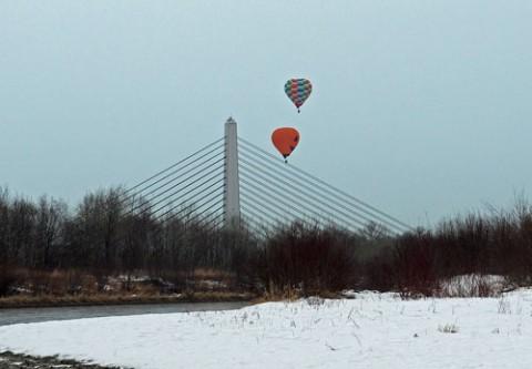 フライト日和で4基の熱気球
