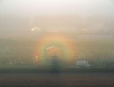 ブロッケン現象が見られたのは帯広の森展望台