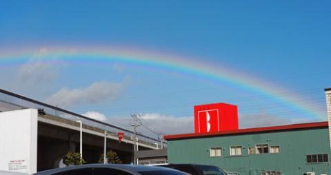 札幌の虹と雲