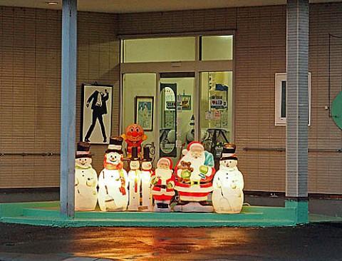 札内でクリスマス飾り