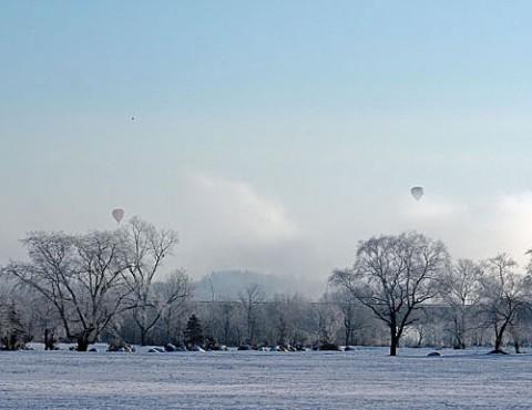 -30度霧氷の朝のフライト