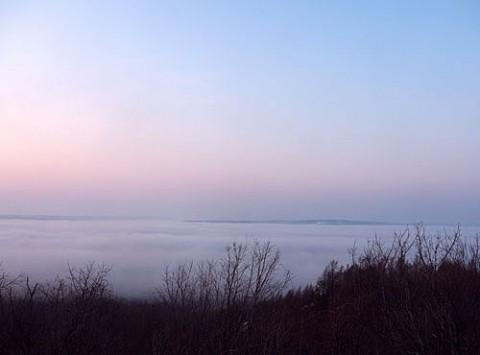 雲海の十勝が丘展望台