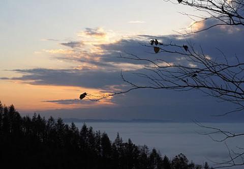十勝が丘から見られた雲海