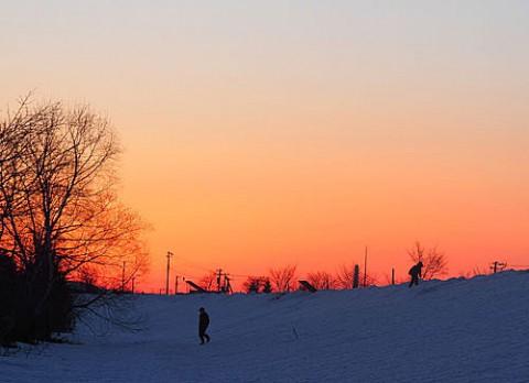 雪原を歩く人は私以外にも・・