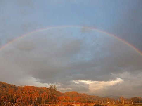 芽登の山で出会った特大虹