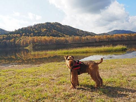 置戸湖で撮影