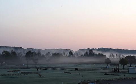 朝霧と好みの朝陽