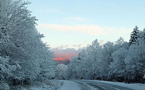 糠平、三股方面の雪景色