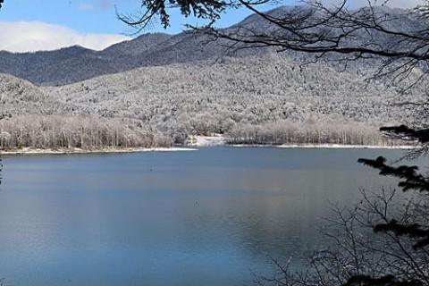 タウシュベツは湖に水没