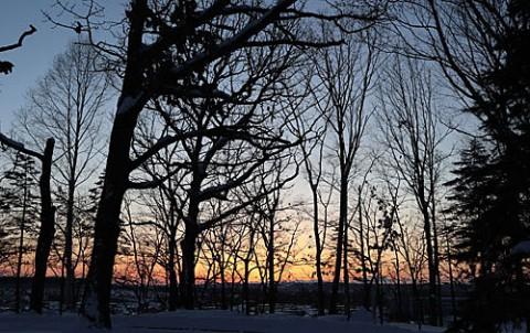 すずらん公園の雪景色