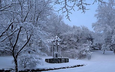 春の湿った雪はきれい!!