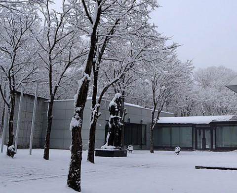 緑ヶ丘の雪景色