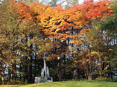 緑ヶ丘のブロンズと紅葉