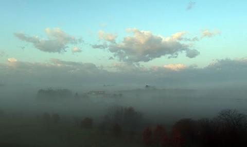 展望台で雲海とブロッケン現象
