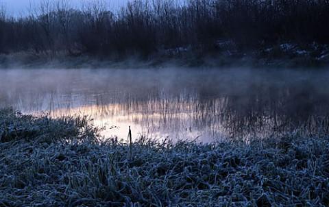 川霧もわずか帯広川