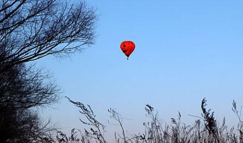 熱気球・思いがけない場所での出会い