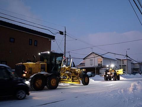 除雪作業と造形