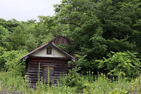十勝牧場の廃屋