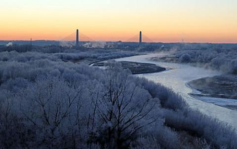 3か所を移動で写した霧氷風景
