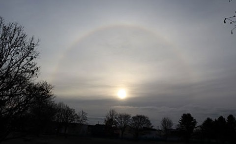 大気光学現象の日暈