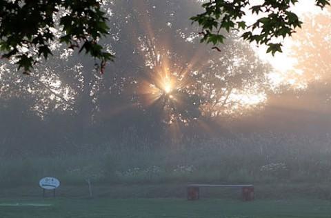 パークゴルフ場で写した光芒