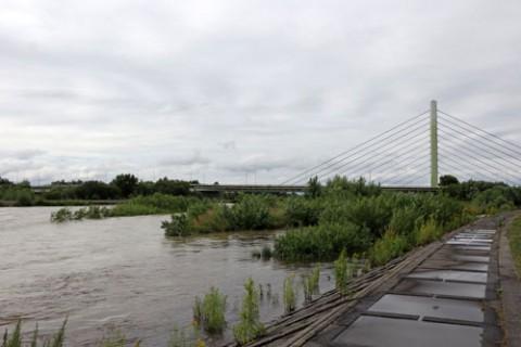 増水していた札内川
