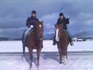 乗馬も楽しい~♪鹿追ライディングパーク♪