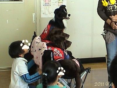 小学校でのドッグセラピー(冬)