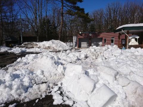 雪割り作業は順調なのか ?