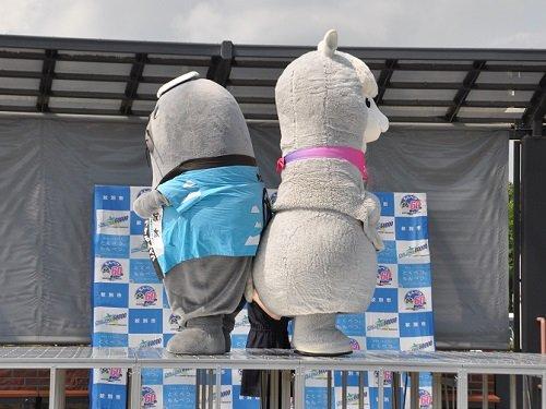 7月20日 紋別市 オホーツク流氷公園 ご当地キャラの尻相撲