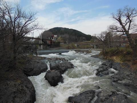 4月30日 滝上町 渚滑川渓谷遊歩道「錦仙峡」へ
