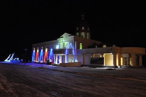 11月29日 滝上町 道の駅香りの里たきのうえ イルミネーション点灯中